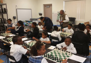 Chess tournament among black youth