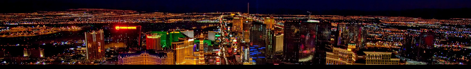 las vegas birds-eye view at night