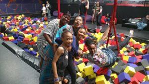 Kids smiling in soft blocks
